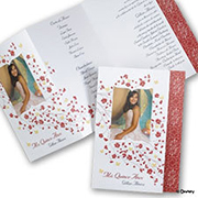 Sweet Blossoms - Snow White - Invitation with Photo